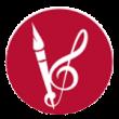 Pinsel und Notenschlüssel Symbol